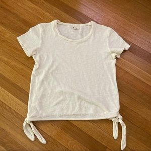 Madewell White Tie Top